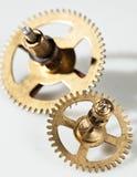 Imagem abstrata do mecanismo do maquinismo de relojoaria - rodas denteadas - engrenagens Fotografia de Stock Royalty Free