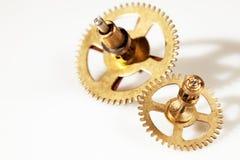 Imagem abstrata do mecanismo do maquinismo de relojoaria - rodas denteadas - engrenagens Imagens de Stock Royalty Free