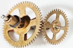 Imagem abstrata do mecanismo do maquinismo de relojoaria - rodas denteadas - engrenagens Foto de Stock Royalty Free