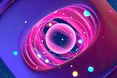 Imagem abstrata do universo e dos planetas 3d rendem imagem de stock
