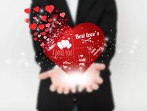 Imagem abstrata do vetor do conceito do homem com coração Para a Web e o móbil no fundo, ilustração da arte do vetor Imagem de Stock Royalty Free