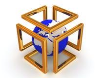 Imagem abstrata. Esfera e símbolo da infinidade Fotografia de Stock Royalty Free
