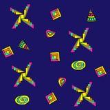 Imagem abstrata gráfica da figura geométrica Fotos de Stock Royalty Free