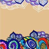 Imagem abstrata gráfica das formas feitos a mão Fotografia de Stock Royalty Free