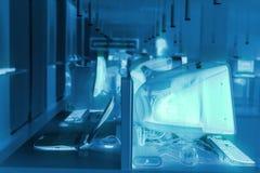Imagem abstrata olá! de uma sala técnica na informática 2 Imagem de Stock Royalty Free