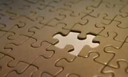 Imagem abstrata simbólica do enigma incompleto Fotos de Stock