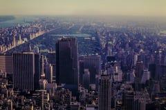 Imagem adiantada do Central Park, NYC dos anos 60 Fotos de Stock Royalty Free