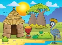 Imagem africana 1 do thematics ilustração royalty free