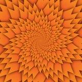 Imagem alaranjada do quadrado do fundo do teste padrão decorativo abstrato da mandala da estrela, teste padrão da imagem da arte  ilustração stock