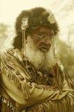 Imagem alterada Digital do homem de montanha do século XIX no traje completo, Waterloo, NJ Fotos de Stock