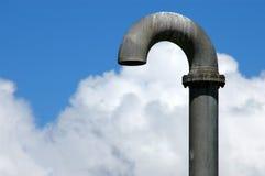 Imagem ambiental de uma tubulação industrial Fotos de Stock Royalty Free