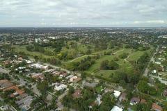 Imagem aérea de um campo de golfe Foto de Stock Royalty Free