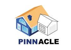 Imagem arquitetónica do projeto do logotipo da empresa ilustração royalty free