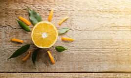 Imagem artística da laranja Imagem de Stock Royalty Free