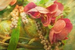 Imagem artística textured composição da mola foto de stock royalty free