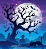Imagem assustador 2 do tema da árvore Foto de Stock