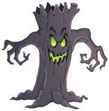 Imagem assustador 1 do tema da árvore Fotos de Stock