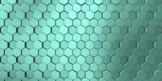 A imagem azul do relevo decorativo do metal formou pela união dos hexágonos ilustração royalty free