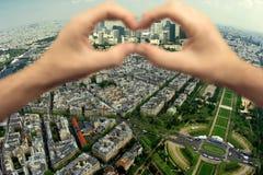 Imagem binocular de Paris imagens de stock