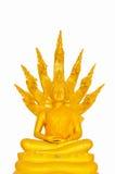 Imagem bonita de Buddha em Tailândia um fundo branco Fotos de Stock Royalty Free