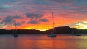 Imagem bonita do por do sol Fotografia de Stock Royalty Free