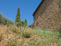 Imagem bonita e sonhadora do campo/vila fotografia de stock