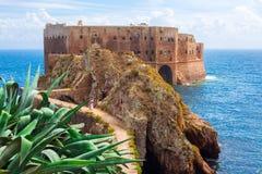 Imagem bonita sobre o castelo, Berlengas, Portugal Imagem de Stock Royalty Free