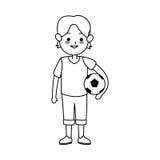 imagem bonito do ícone dos desenhos animados do menino ilustração royalty free