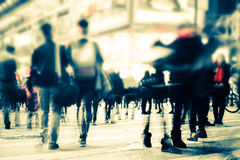 Imagem borrada da rua da cidade da noite Hon Kong Imagem de Stock Royalty Free