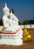 Imagem branca de Buddha Fotografia de Stock