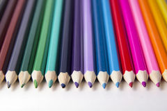 Imagem brilhante de lápis coloridos Imagem de Stock Royalty Free