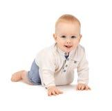 Bebé de rastejamento Fotos de Stock Royalty Free