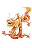Imagem chinesa vermelha do dragão Fotos de Stock Royalty Free