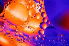 Imagem científica da membrana de pilha Macro acima de substâncias líquidas Sctructure abstrato do átomo da molécula Bolhas da águ Fotografia de Stock