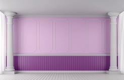 Imagem clássica da rendição do estilo 3d da parede de Emptry Ilustração Royalty Free