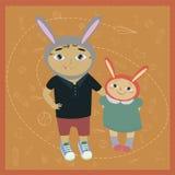 Imagem com as crianças na desordem de fundo Imagens de Stock Royalty Free