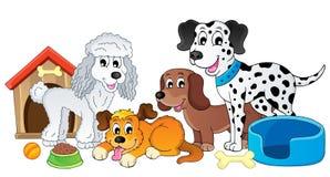 Imagem com assunto 4 do cão Foto de Stock Royalty Free
