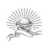 Imagem com hamburguer Fotografia de Stock