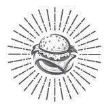 Imagem com hamburguer Fotos de Stock