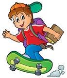 Imagem com tema 1 do menino de escola Fotos de Stock Royalty Free