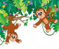 Imagem com tema 6 da selva Foto de Stock
