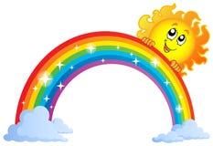 Imagem com tema 9 do arco-íris Imagem de Stock Royalty Free