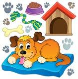 Imagem com tema 5 do cão Foto de Stock Royalty Free