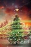 Imagem composta da árvore de Natal Fotos de Stock