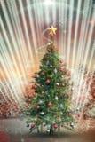 Imagem composta da árvore de Natal Imagens de Stock