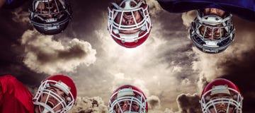 Imagem composta da aproximação 3D do futebol americano Fotografia de Stock Royalty Free