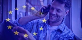 Imagem composta da bandeira europeia ilustração stock