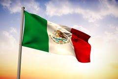 Imagem composta da bandeira nacional de México ilustração royalty free