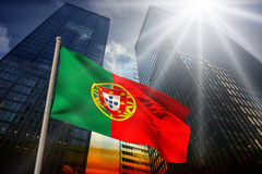 Imagem composta da bandeira nacional de Portugal Imagens de Stock Royalty Free