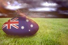 Imagem composta da bola de rugby de Austrália Imagens de Stock